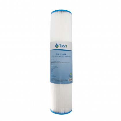 Pentek ECP1-20BB Comparable Pleated Sediment Water Filter by Tier1 (20-inch x 4-1/2-inch)