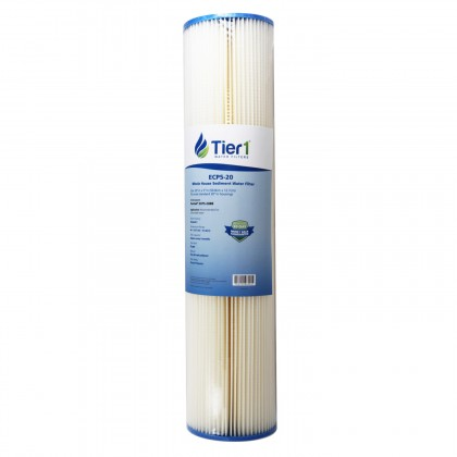 Tier1 20 inch x 4.5 inch Whole House Sediment Water Filter (5 Micron)