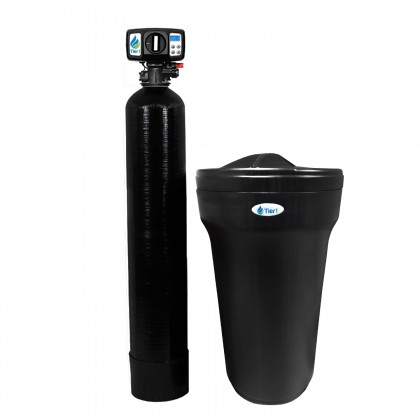 Tier1 Series 165 48,000 Grain Capacity Water Softener (Black)