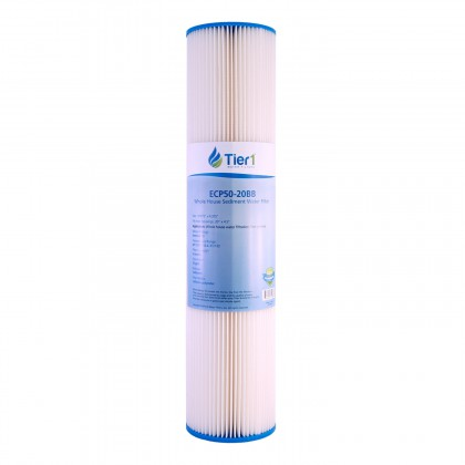 Tier1 Pentek ECP50-20BB Comparable Pleated Sediment Water Filter