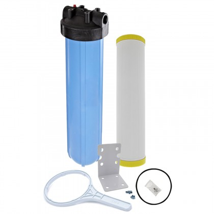 Tier1 20 inch Big Polypropylene Filter Housing with Iron and Manganese Reduction Water Cartridge Kit