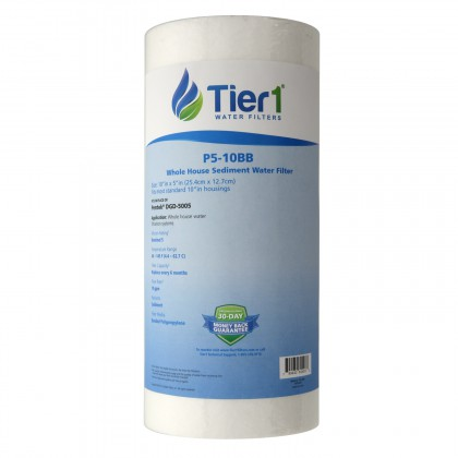 10 X 4.5 Spun Wound Polypropylene Replacement Filter by Tier1 (5 micron)