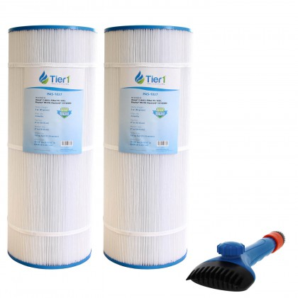 Tier1 CX-1200-RE Comparable Pool and Spa Filter (2-Pack) and Pool Filter Cleaning Brush
