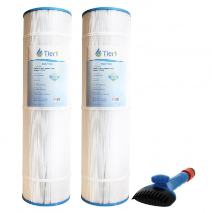 Tier1 817-0131, 178584 & R173476 Comparable Pool and Spa Filter (2-Pack) and Pool Filter Cleaning Brush