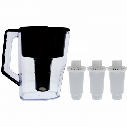 Alkaline Water Pitcher and Alkaline Pitcher Replacement Filters (3-Pack) Kit by Tier1