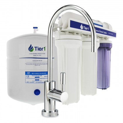 Tier1 RO5 5-Stage Reverse Osmosis System (50 GPD)