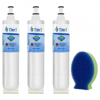 Tier1 EveryDrop EDR5RXD1 Whirlpool 4396508/4396510 Comparable Refrigerator Water Filter and DishFish (3 Pack)