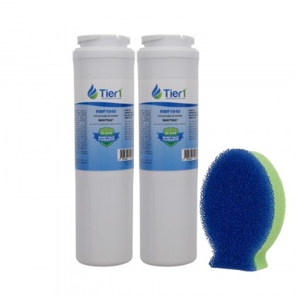 Tier1 EveryDrop EDR4RXD1 Maytag UKF8001 Comparable Refrigerator Water Filter and DishFish (3 Pack)