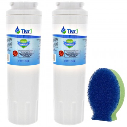 Tier1 EveryDrop EDR4RXD1 Maytag UKF8001 Comparable Refrigerator Water Filter and DishFish (2 Pack)