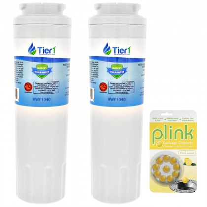 Tier1 EveryDrop EDR4RXD1 Maytag UKF8001 Comparable Refrigerator Water Filter and Plink Garbage Disposal Cleaner (2 Pack)