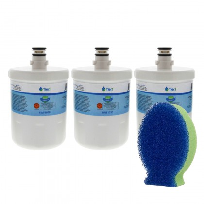 Tier1 LG 5231JA2002A / LT500P Comparable Refrigerator Water Filter and DishFish (3 Pack)
