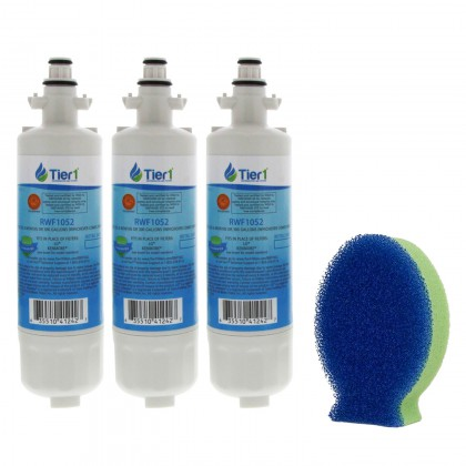 LT700P LG Comparable Refrigerator Water Filter Replacement and DishFish (3 Pack) by Tier1