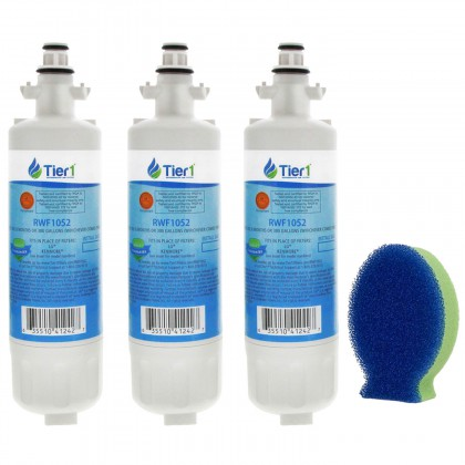 Tier1 LG LT700P Comparable Refrigerator Water Filter Replacement and DishFish (3 Pack)