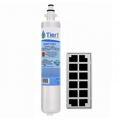 GE RPWF Comparable Refrigerator Water Filter with GE Cafe Series Comparable Odor Filter Combo by Tier1