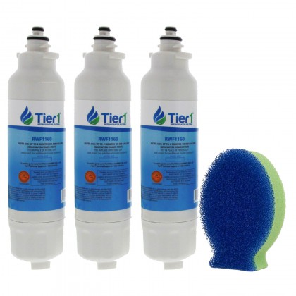 Tier1 LG LT800P Comparable Refrigerator Water Filter and DishFish (3 Pack)