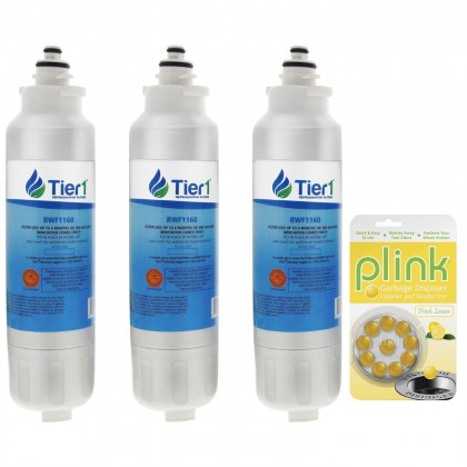 Tier1 LG LT800P Comparable Refrigerator Water Filter and Garbage Disposal Cleaner (3 Pack)