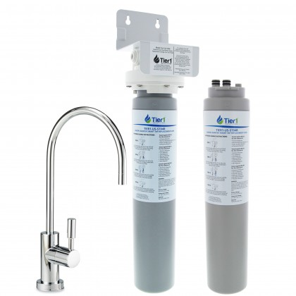 Tier1 US-ST04 Undersink Smart Tap System with Drinking Water Faucet PLUS Additional Filter Cartridge
