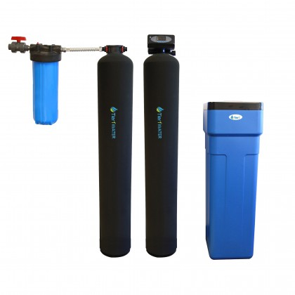 Tier1 Whole House Carbon and KDF Water Purification and Water Softener System Series 10000